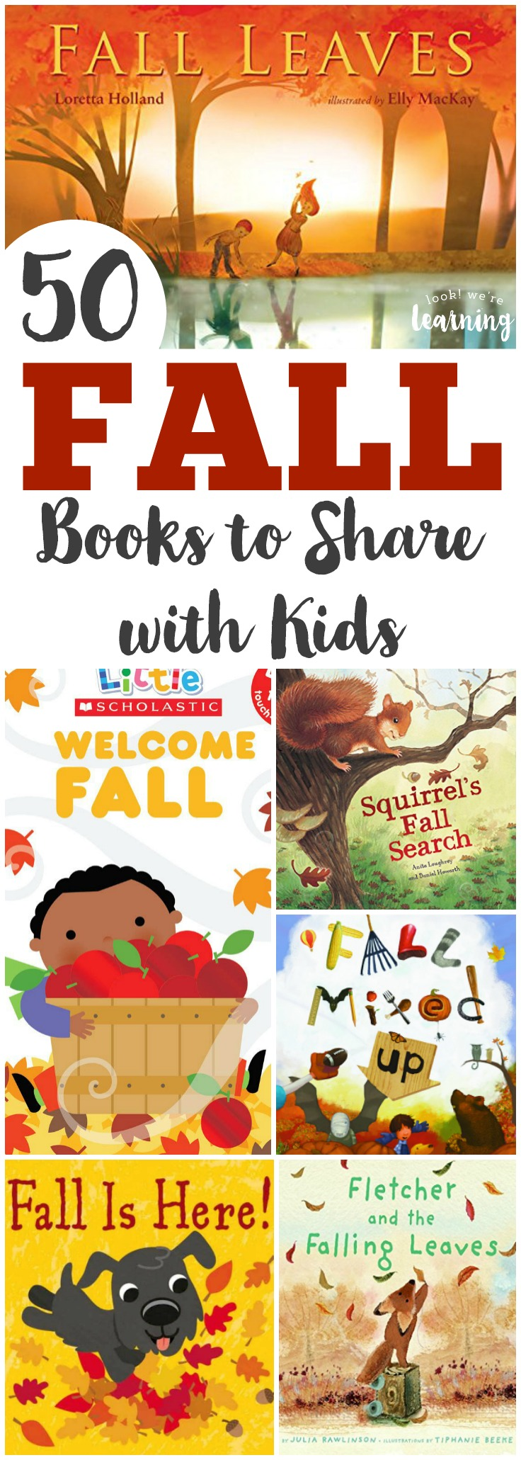 Fall is a wonderful time of year for sharing stories with the children. Here is a list of 50 wonderful fall books for kids this autumn!