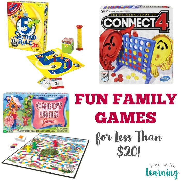 Family Games for Less Than 20 Bucks
