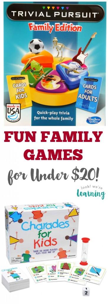 Fun Family Games for Less Than 20 Bucks