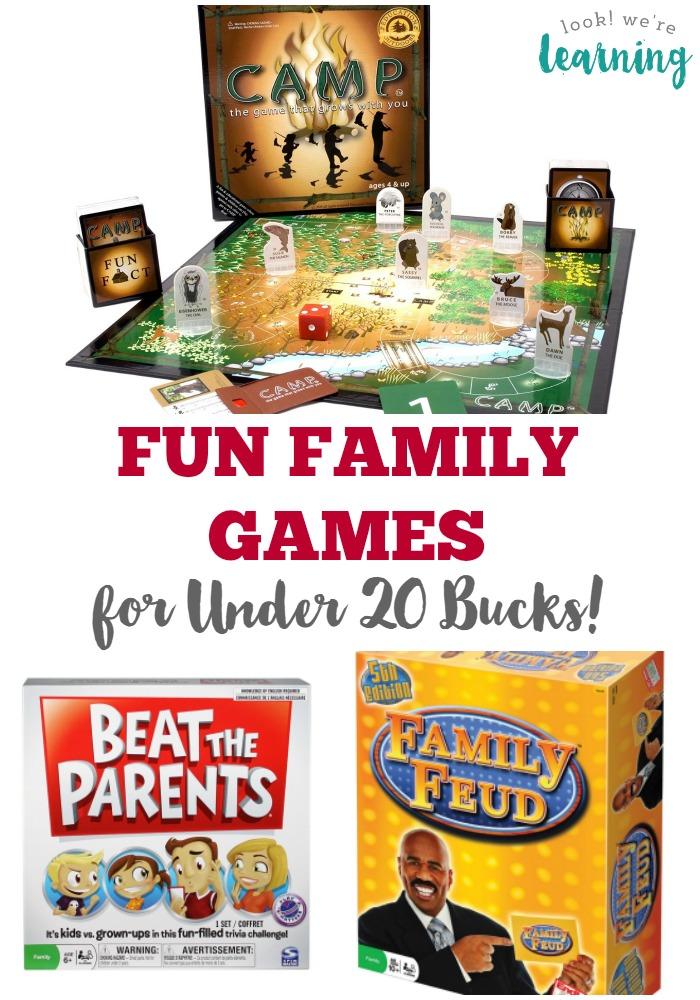 Fun Family Games for Under 20 Bucks