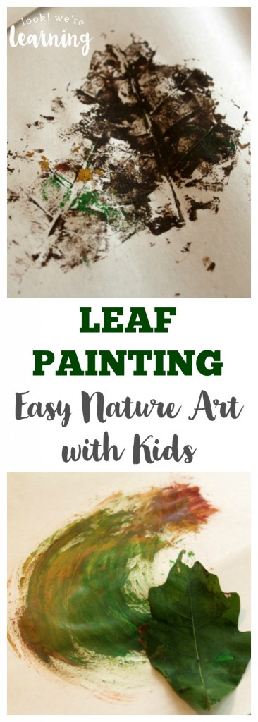 Leaf Painting Easy Nature Art with Kids