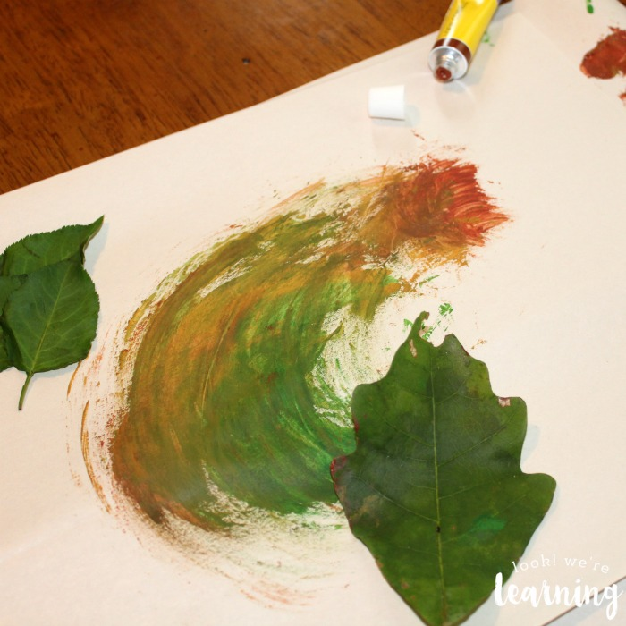 Leaf Painting with Kids Art Experience