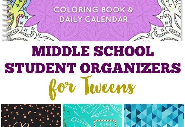 Middle School Student Organizers for Tweens