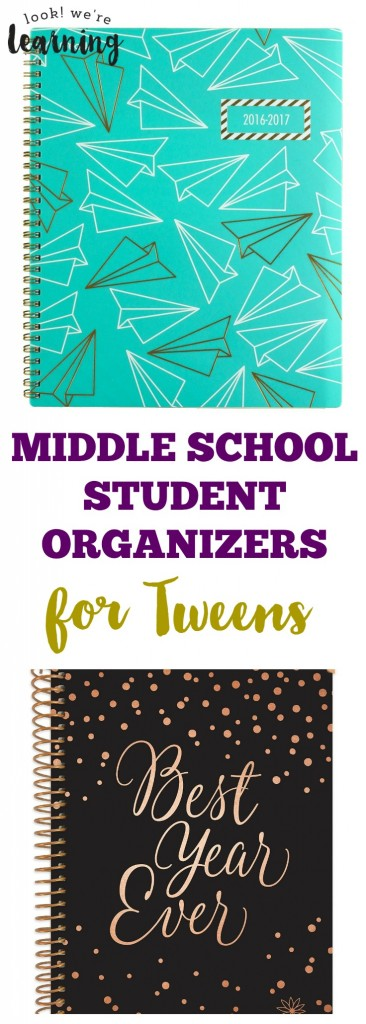 Middle School Student Organizers for Tweens