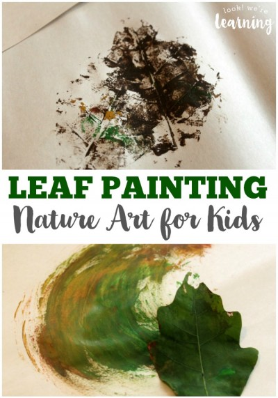 Nature Art Leaf Painting with Kids