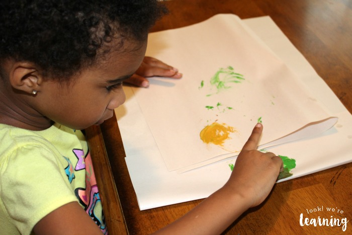 Painting with Leaves for Toddlers