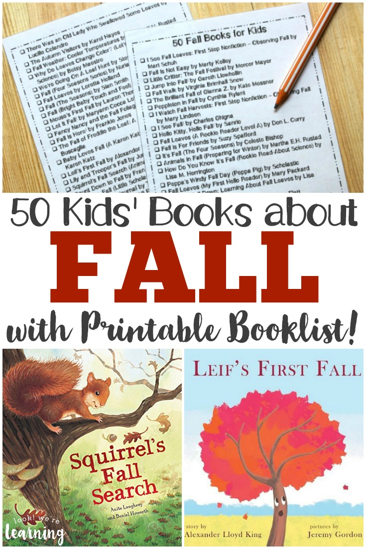 Pick up this printable fall books for kids booklist to keep track of the gorgeous fall stories you share this autumn!