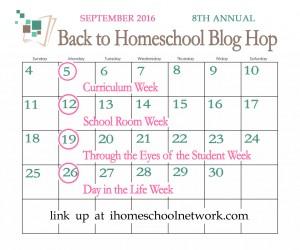 2016 Back to Homeschool Blog Hop