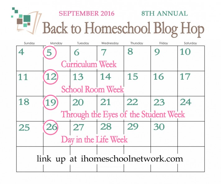 2016 Back to Homeschool Blog Hop