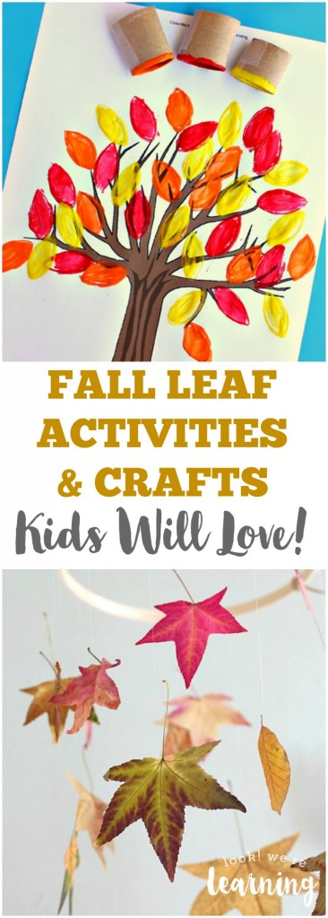 Fall Leaf Activities for Kids @ Look! We're Learning!