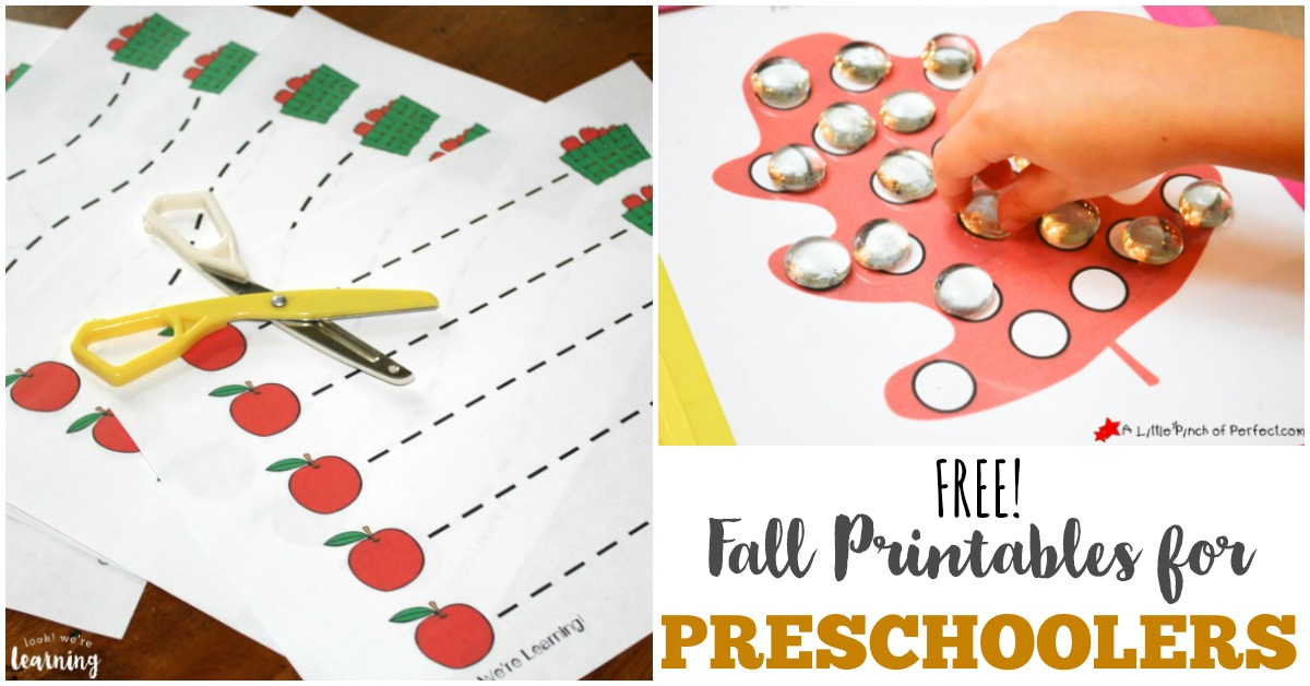 Free Fall Printables For Preschoolers Look We Re Learning