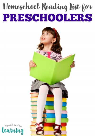 Help your preschooler love reading with this preschool homeschool reading list!