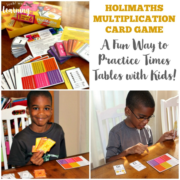 HoliMaths Multiplication Card Game - A Fun Way to Practice Times Tables with Kids