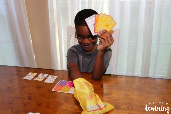HoliMaths Multiplication Card Game Playing