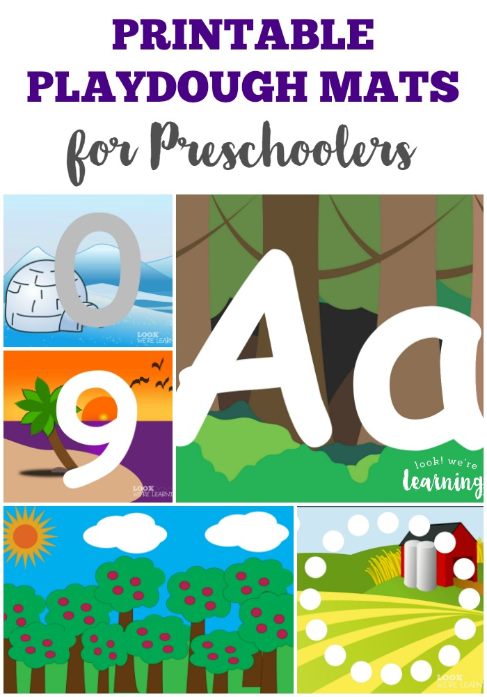 Make PreK fun with these Preschool Playdough Mats!