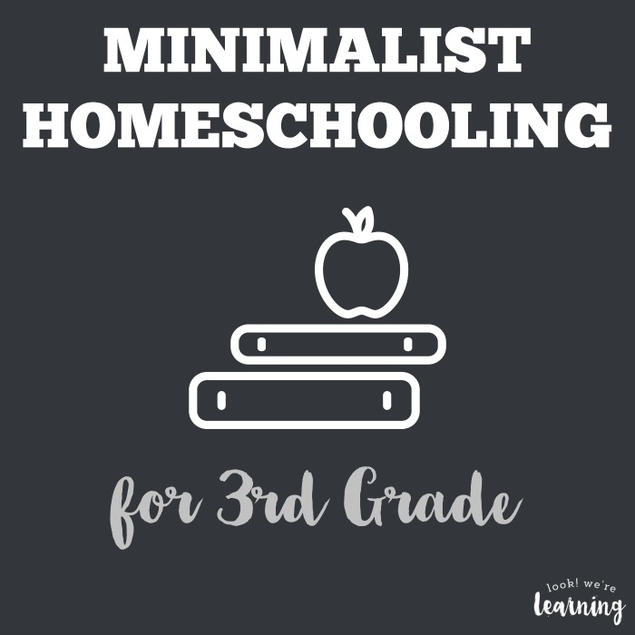 Minimalist Homeschool Program for 3rd Grade