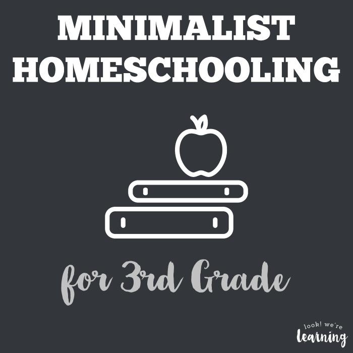 Minimalist Homeschool Program for 3rd Grade