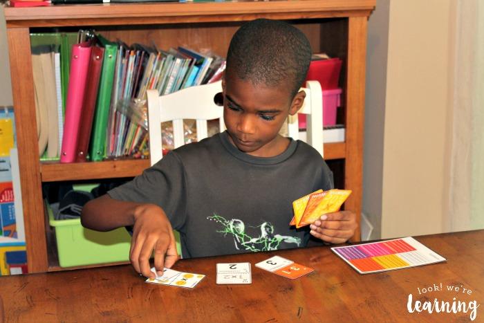Playing HoliMaths Multiplication Card Game