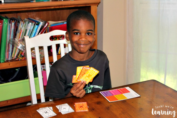 Playing with HoliMaths Multiplication Card Game