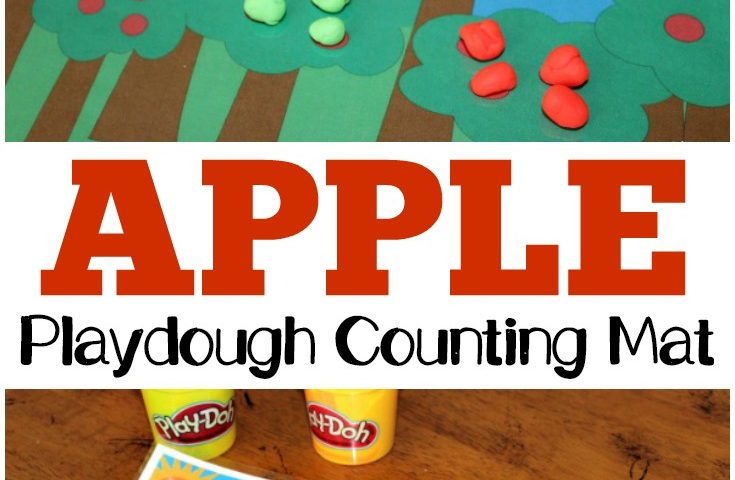 Preschool Playdough Mats: Apple Tree Counting Mat