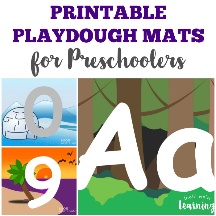 Printable Preschool Playdough Mats