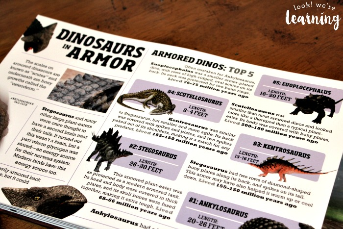 Reading about Armored Dinosaurs