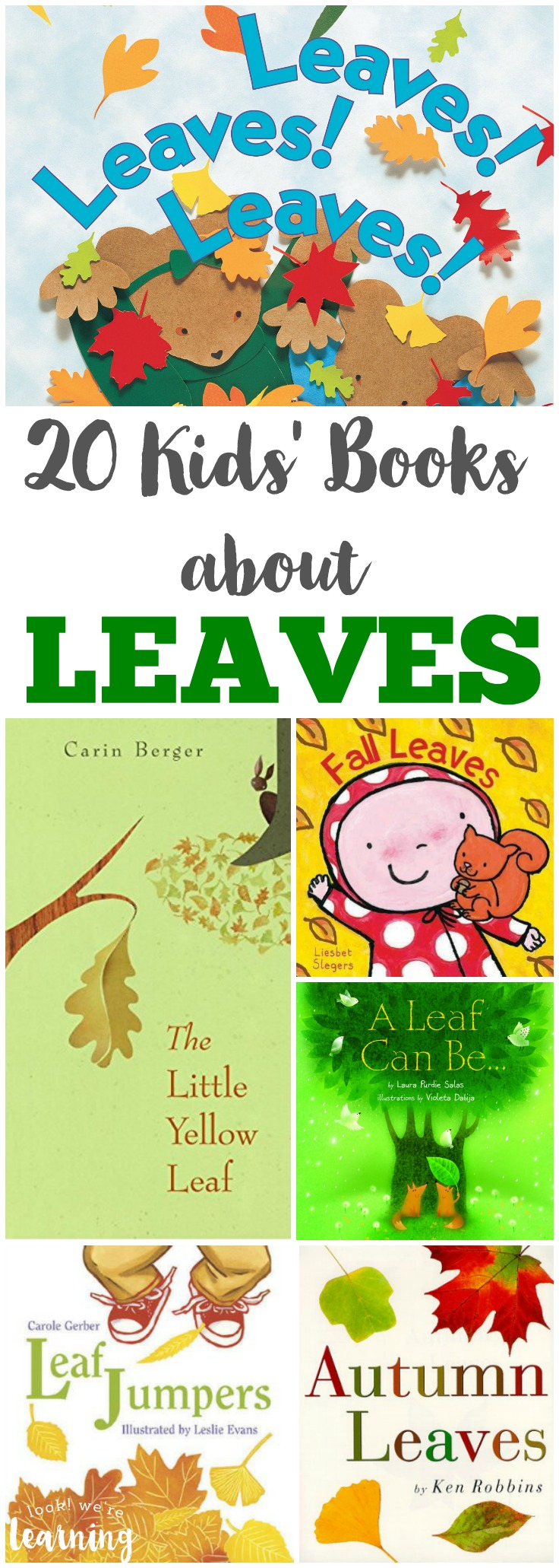Share these books about leaves with the kids during storytime this autumn!