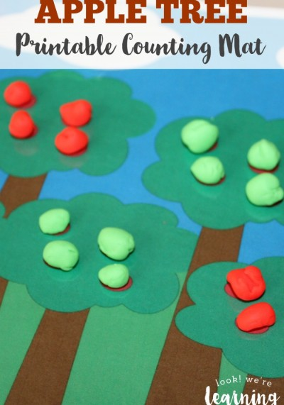 Try a fun way to teach counting to your preschooler - this Apple Tree Printable Counting Mat!