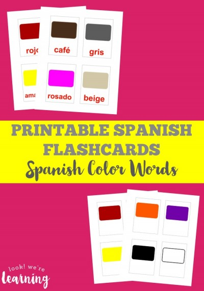 Use printable Spanish flashcards such as these printable Spanish color flashcards to learn basic words and phrases in espanol!