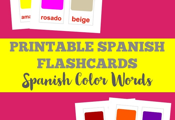 Printable Spanish Flashcards: Colors