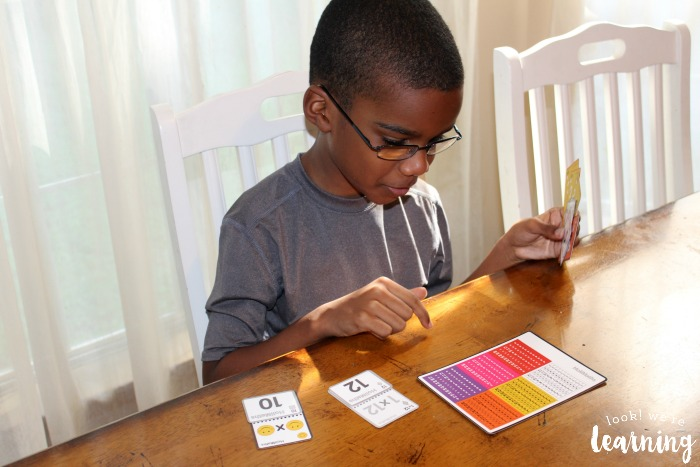 Using HoliMaths Multiplication Card Game with Kids
