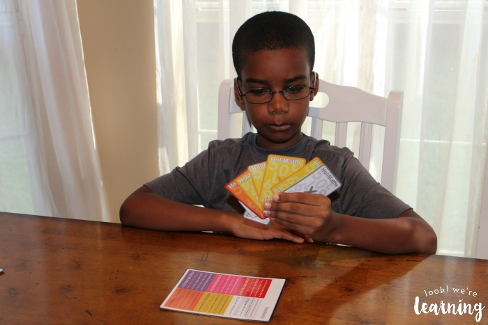 Using HoliMaths Multiplication Cards