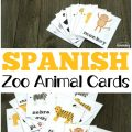Learn to talk about wild animals in Spanish with these Spanish zoo animal flashcards!