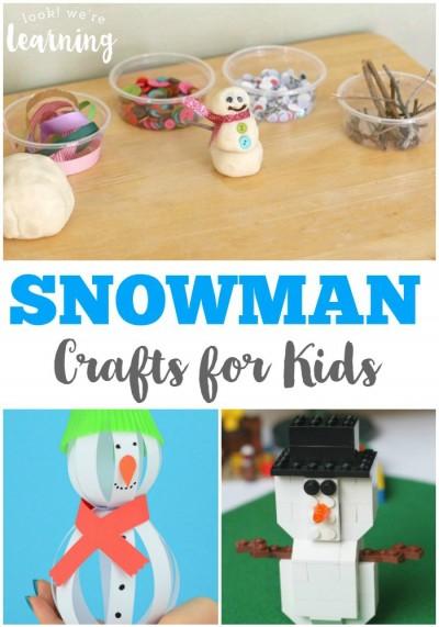 Fun Snowman Crafts for Kids