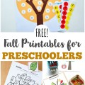 Use these free fall printables for preschoolers to help your little ones learn about autumn!
