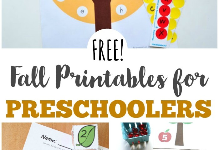 Free Fall Printables for Preschoolers