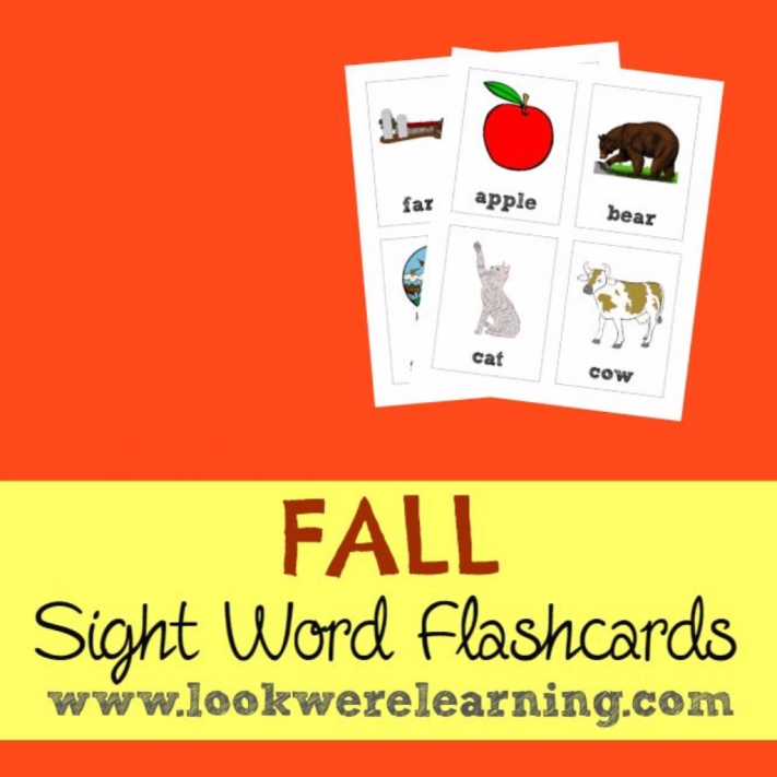 Fall Sight Word Flashcards - Look! We're Learning!
