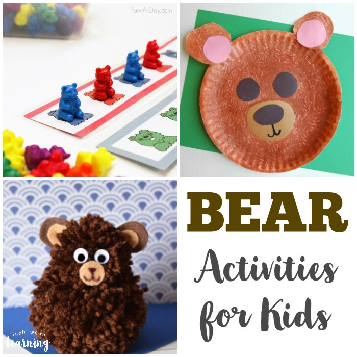Bear Activities and Crafts for Kids - Look! We're Learning!