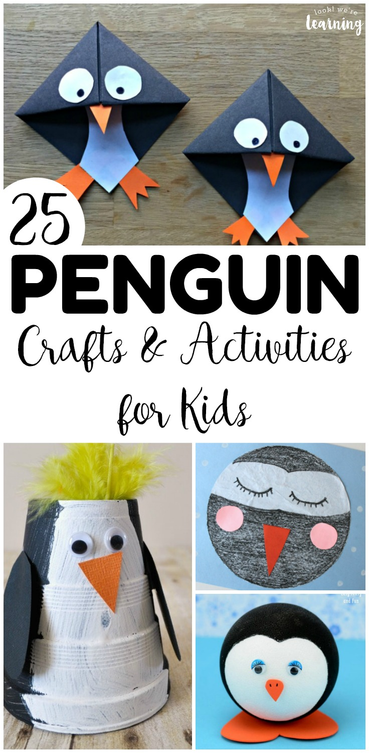Have some winter crafting fun with these 25 penguin crafts for kids! There are plenty of fun penguin activities here for early grades!