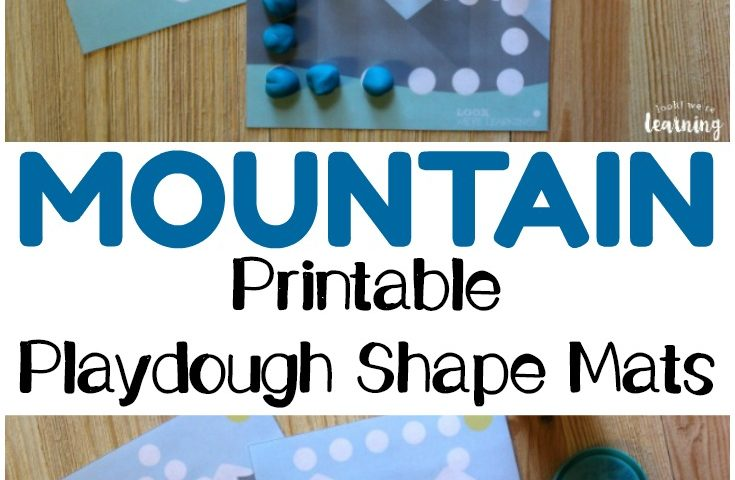 Preschool Playdough Mats: Mountain Playdough Shape Mats