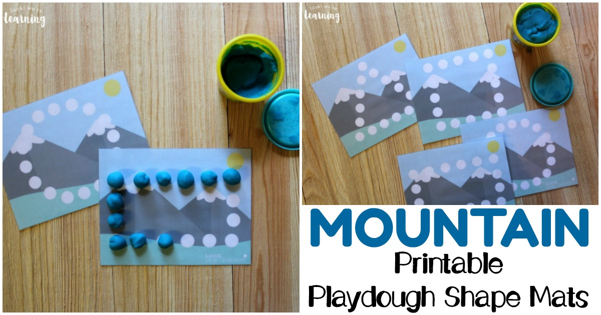 Printable Mountain Themed Fine Motor Mats for Kids