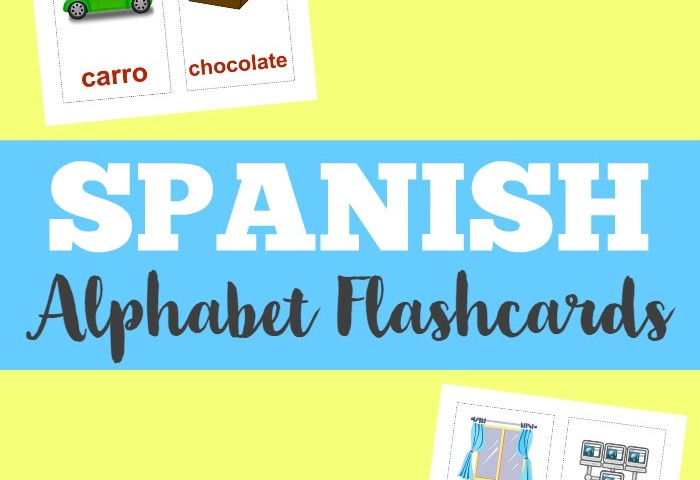 Printable Spanish Flashcards: Spanish Alphabet Flashcards
