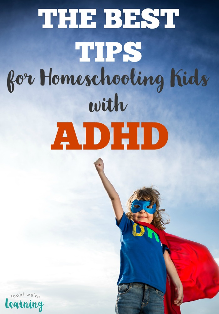 Teaching a child with ADHD at home? You've got to read this list of the best ADHD homeschooling tips around!