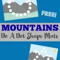 These Mountains Do A Dot Shape Mats make perfect preschool playdough mats!