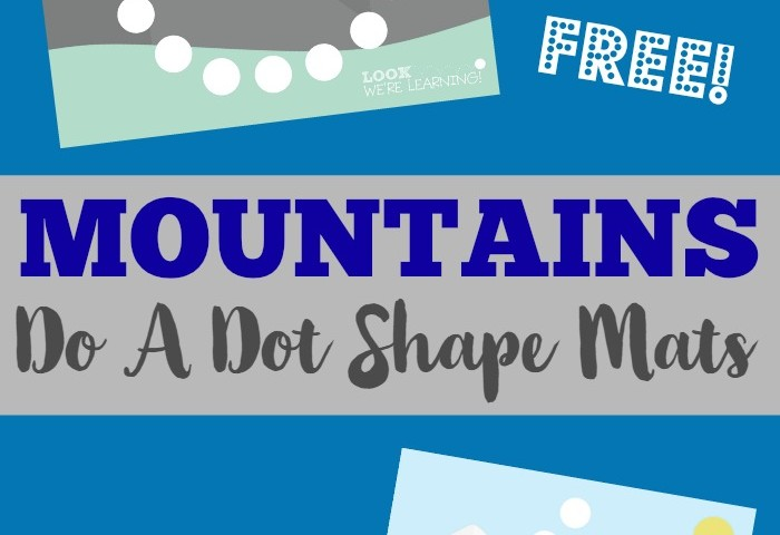 Preschool Playdough Mats: Mountain Do A Dot Shape Mats