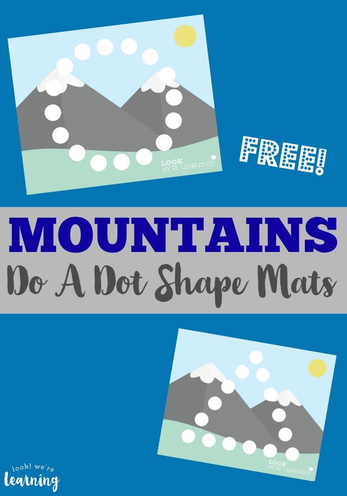 Preschool Playdough Mats Mountain Do A Dot Shape Mats