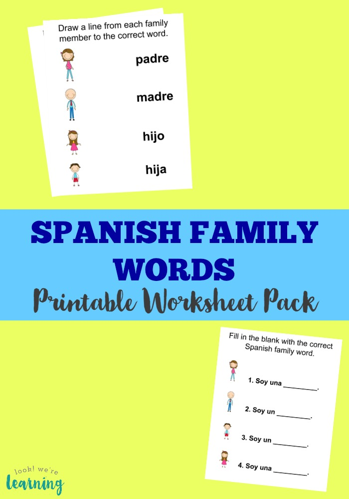 Use This Printable Spanish Family Members Worksheet Pack To Learn How Talk About In: Telling Time In Spanish Worksheets At Alzheimers-prions.com
