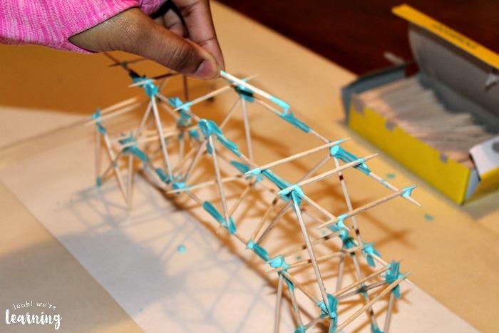 Assembling a Toothpick Bridge