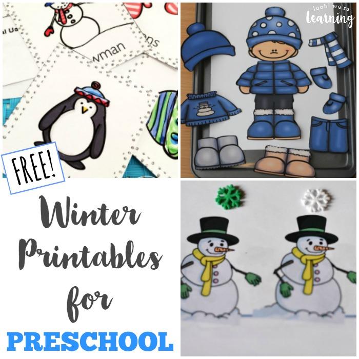 Free Winter Printables for Preschoolers - Look! We're Learning!