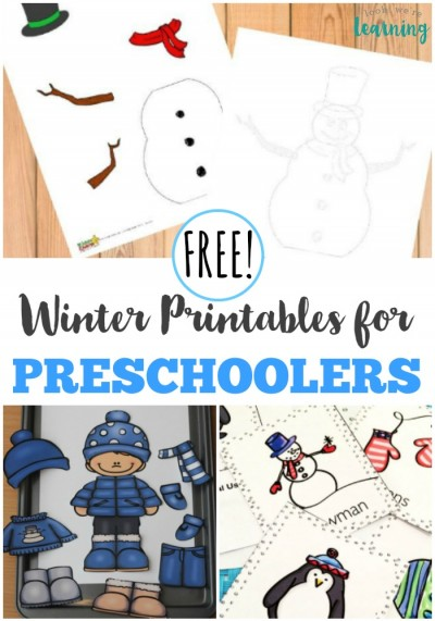 These free winter printables for preschoolers are a wonderful way to get your younger learners involved in a winter unit!